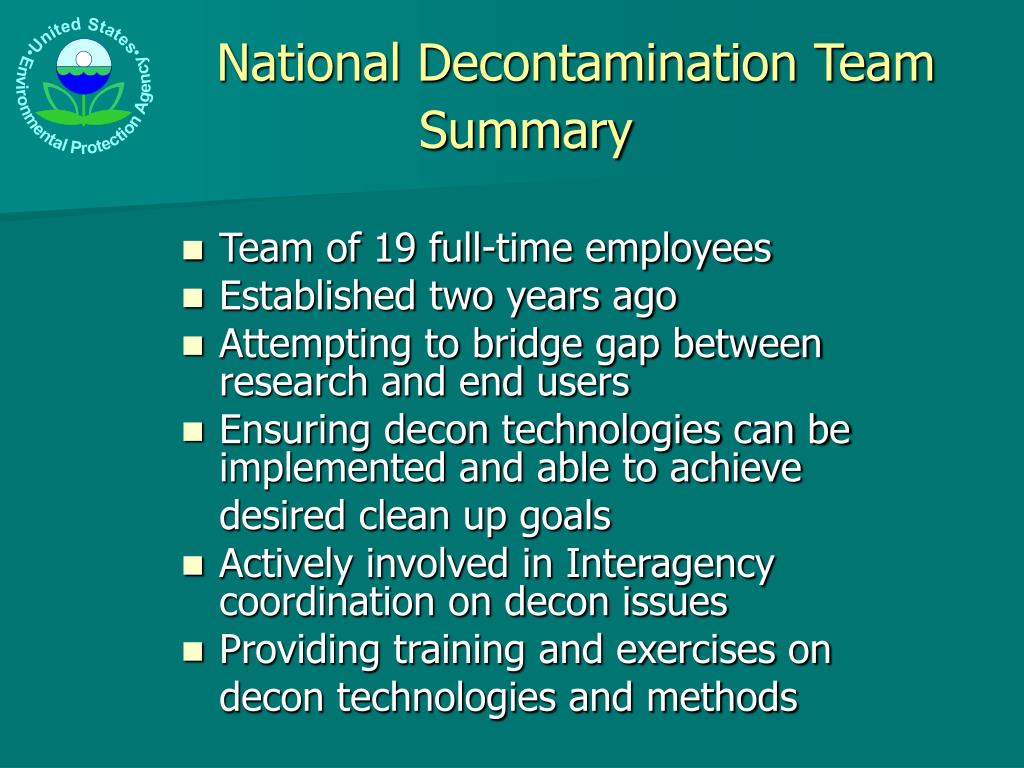 National Decontamination Team