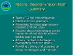 national decontamination team summary