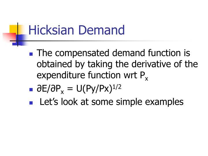 Hicksian Demand