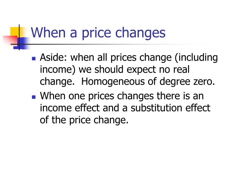 When a price changes