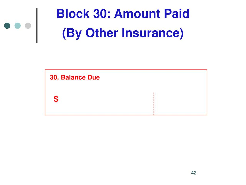 Block 30: Amount Paid
