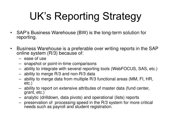 uk s reporting strategy n.