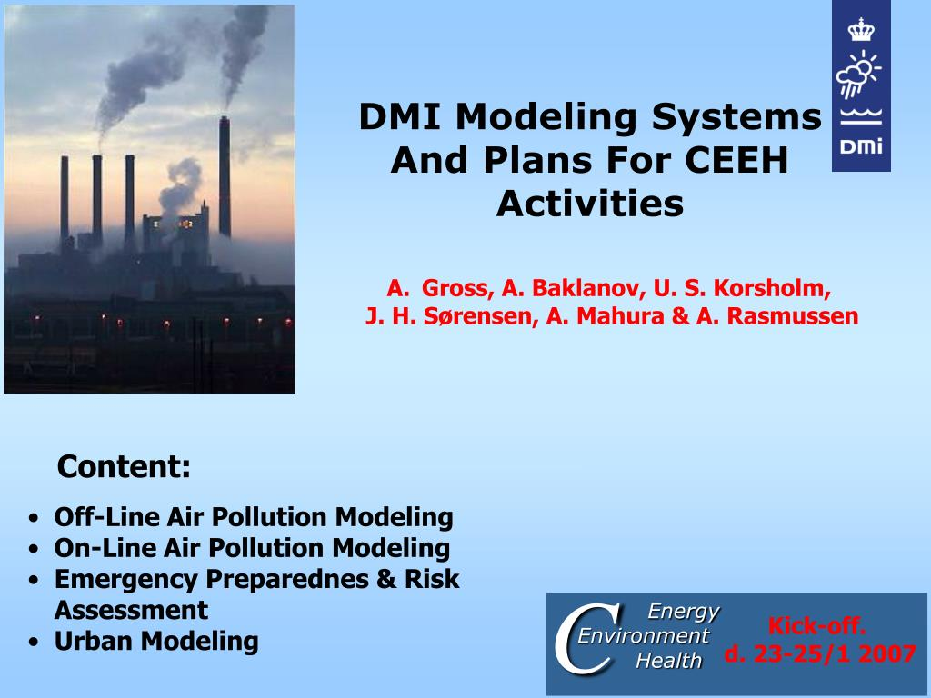 dmi modeling systems and plans for ceeh activities l.