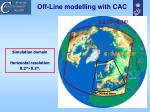 off line modelling with cac