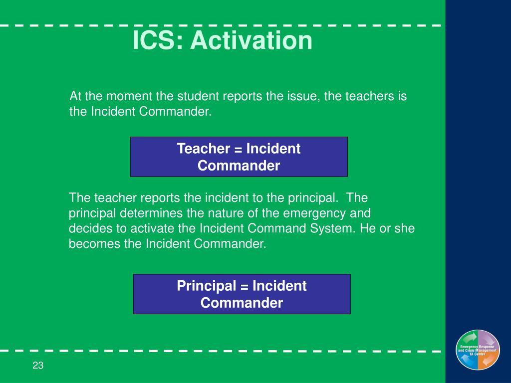 ICS: Activation