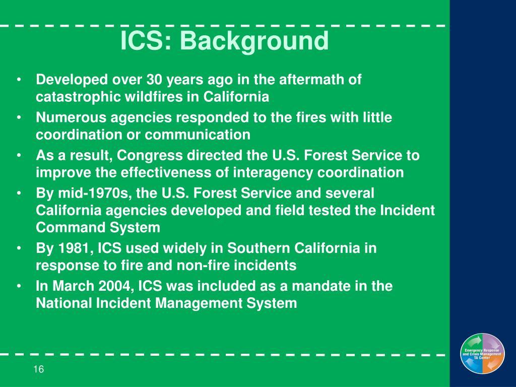 ICS: Background