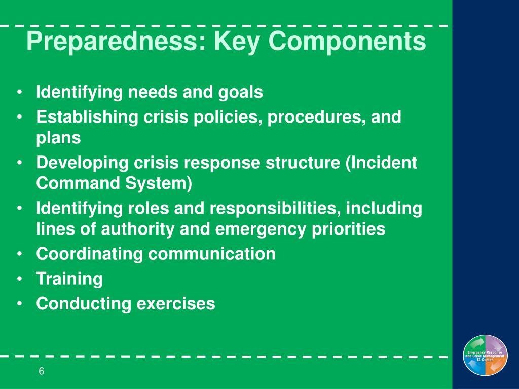 Preparedness: Key Components