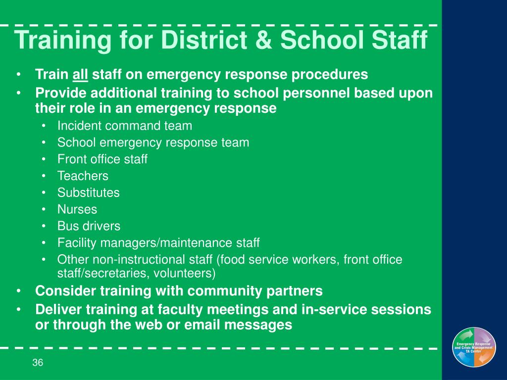 Training for District & School Staff
