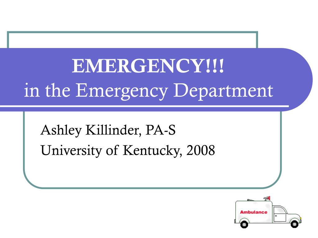 emergency in the emergency department l.