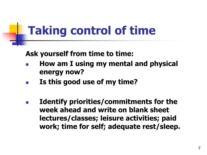 Ask yourself from time to time: