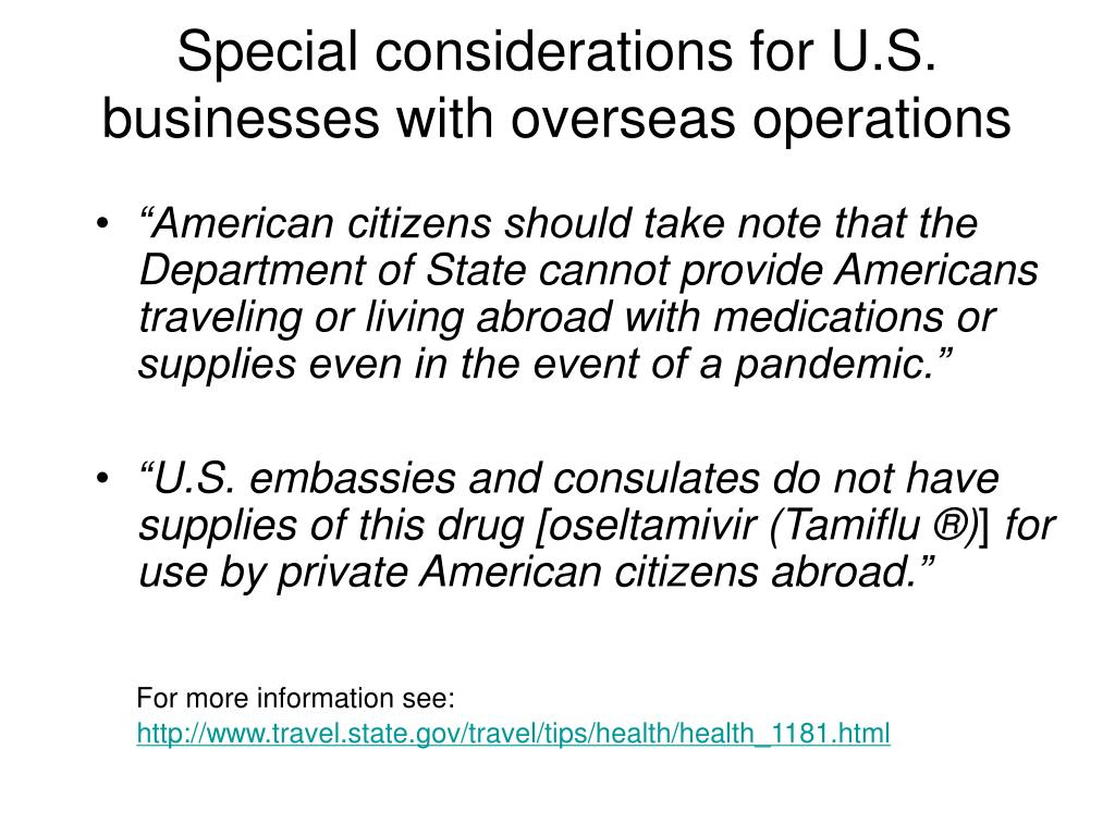 Special considerations for U.S. businesses with overseas operations