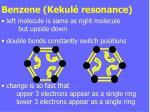 benzene kekul resonance