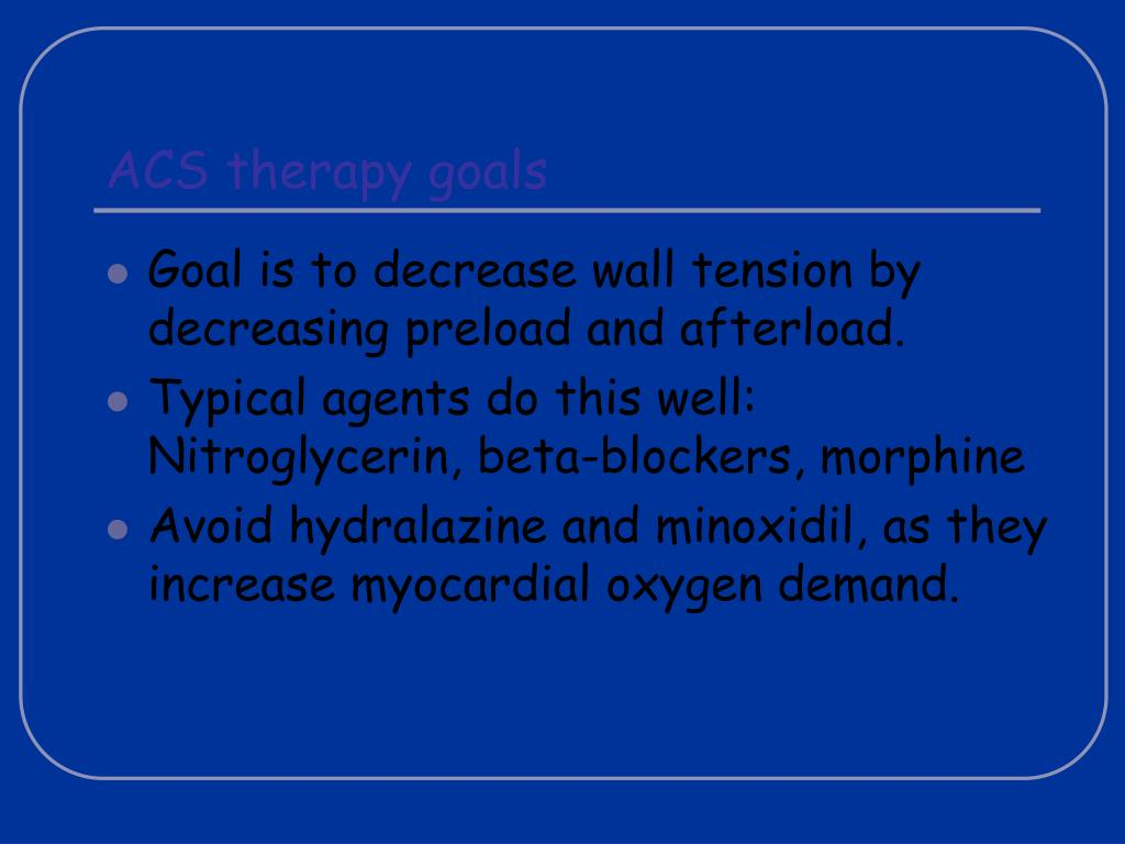 ACS therapy goals