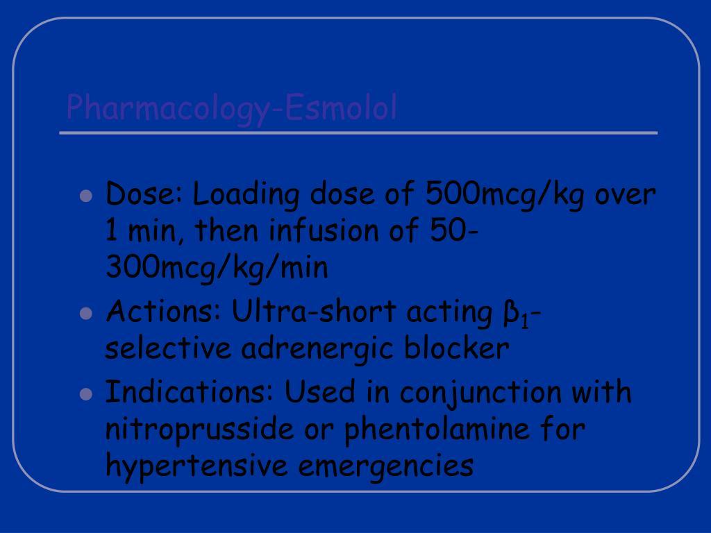 Pharmacology-Esmolol