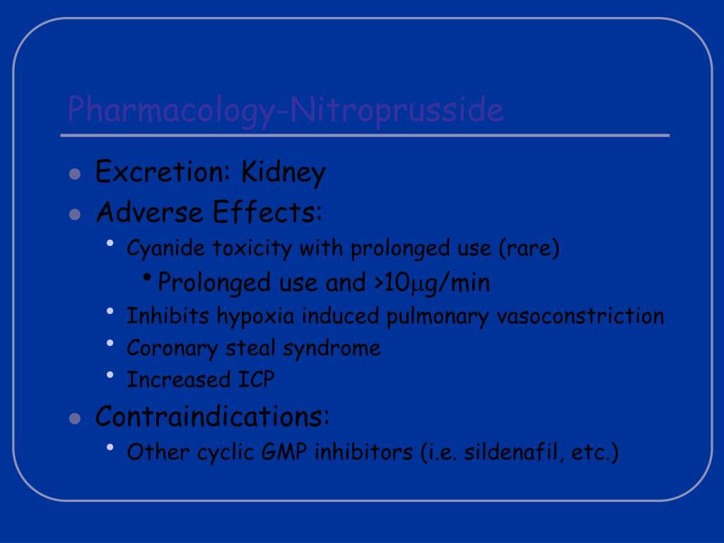 Pharmacology-Nitroprusside
