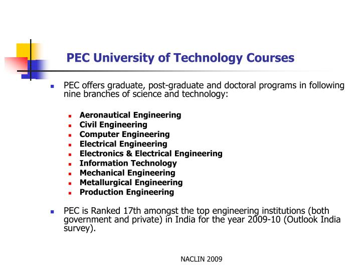 Ppt Electronic Journal Access At Pec University Of Technology