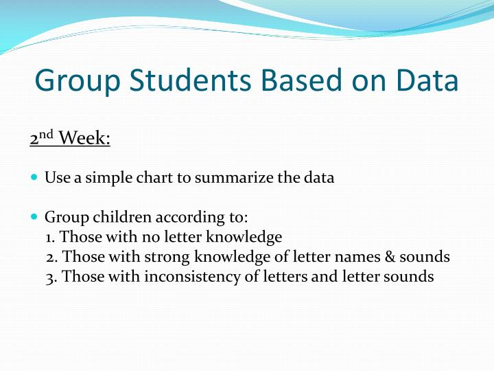 Group Students Based on Data