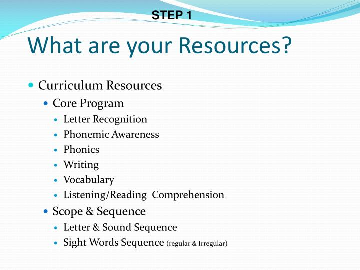 What are your resources