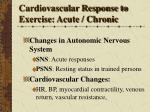cardiovascular response to exercise acute chronic