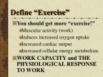 define exercise