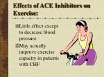 effects of ace inhibitors on exercise