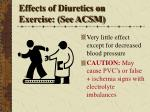 effects of diuretics on exercise see acsm