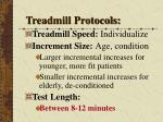 treadmill protocols