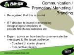 communication promotion marketing branding
