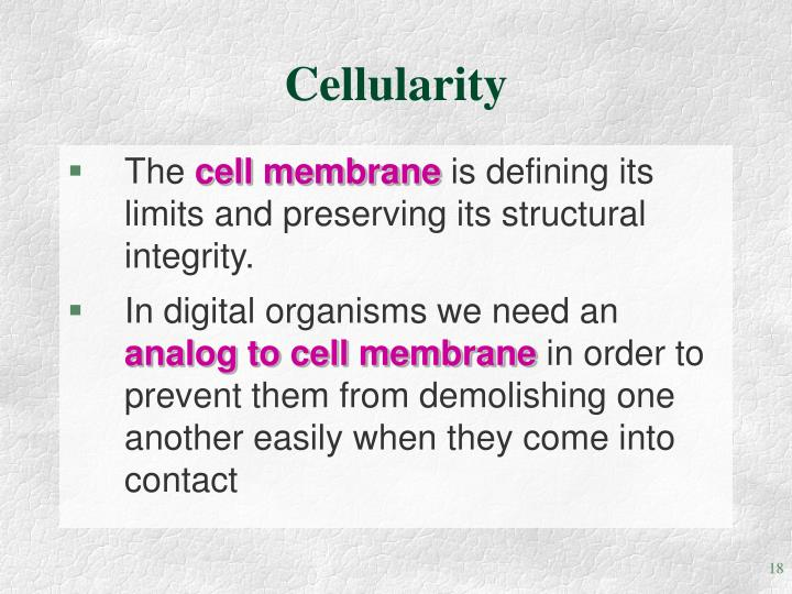 Cellularity