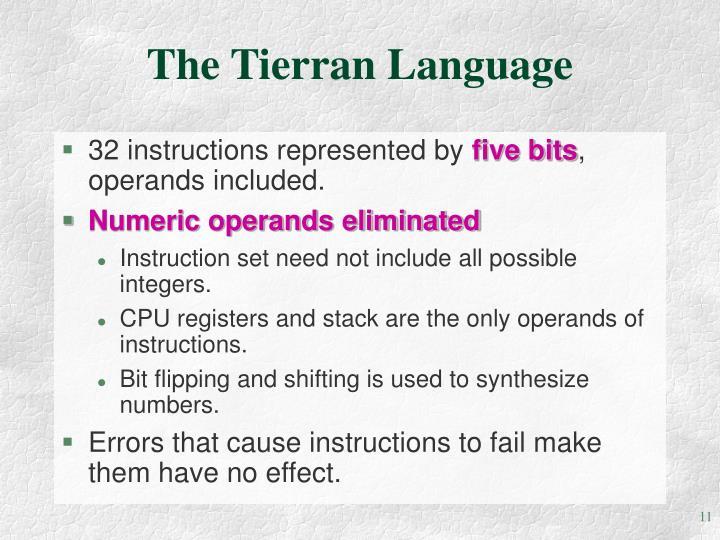 The Tierran Language