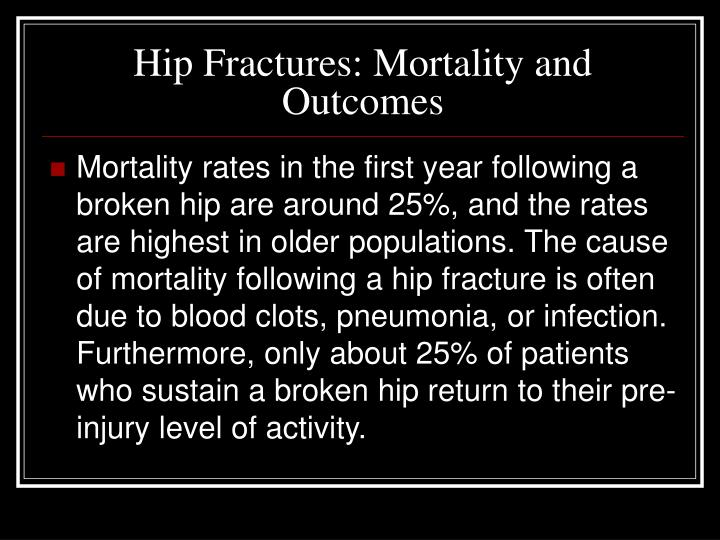 Hip Fractures: Mortality and Outcomes