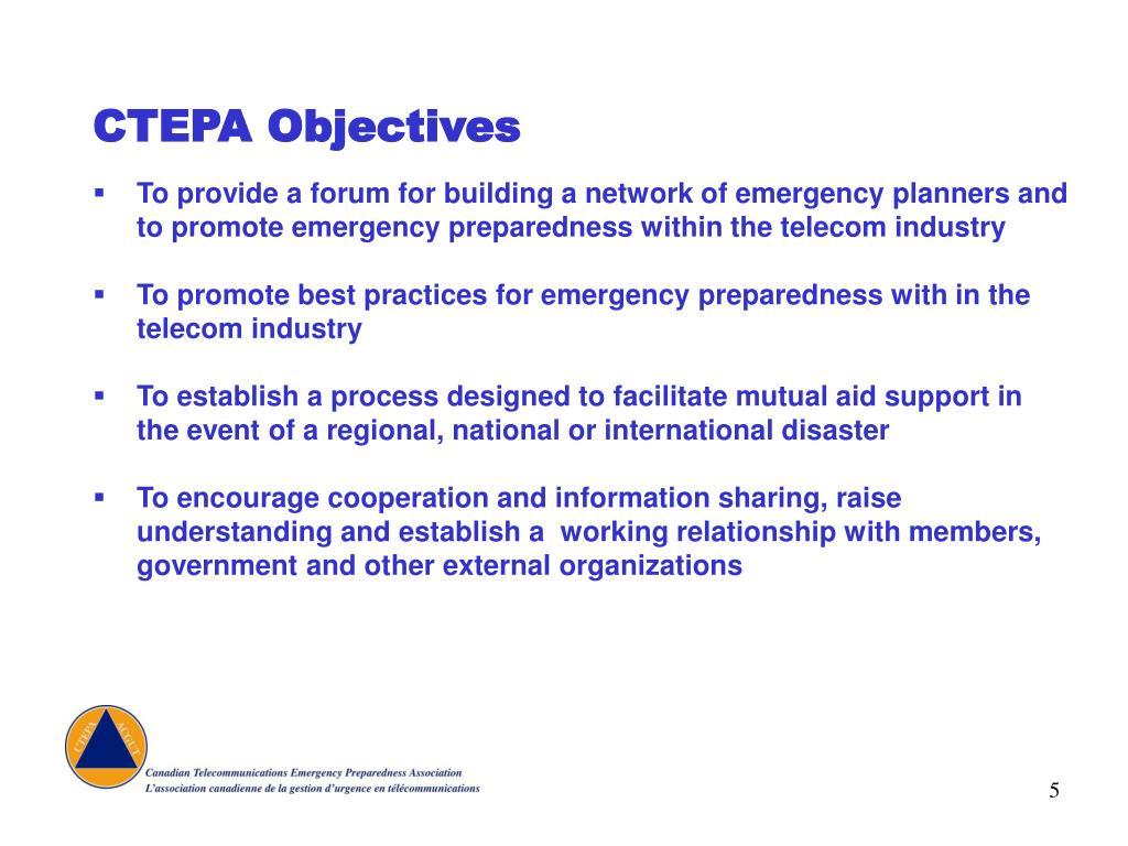 CTEPA Objectives