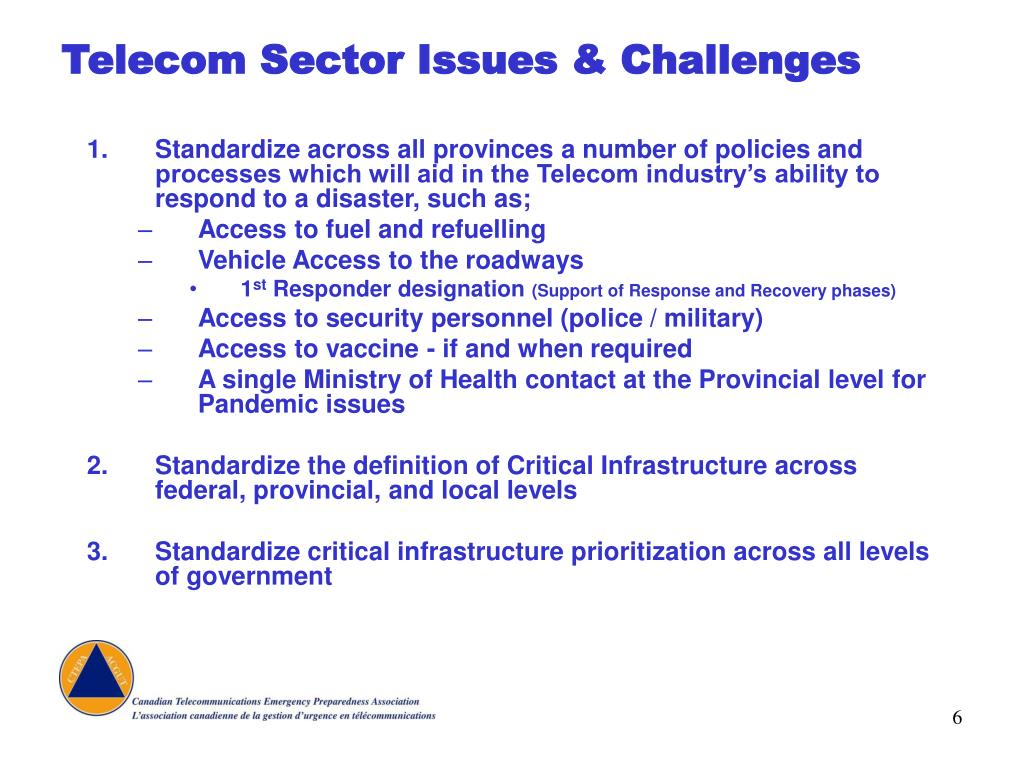 Telecom Sector Issues & Challenges