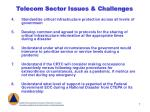 telecom sector issues challenges7