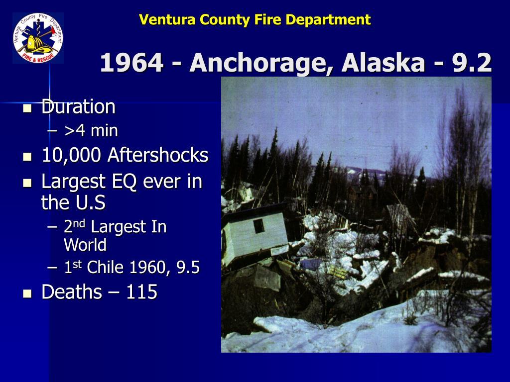 1964 - Anchorage, Alaska - 9.2