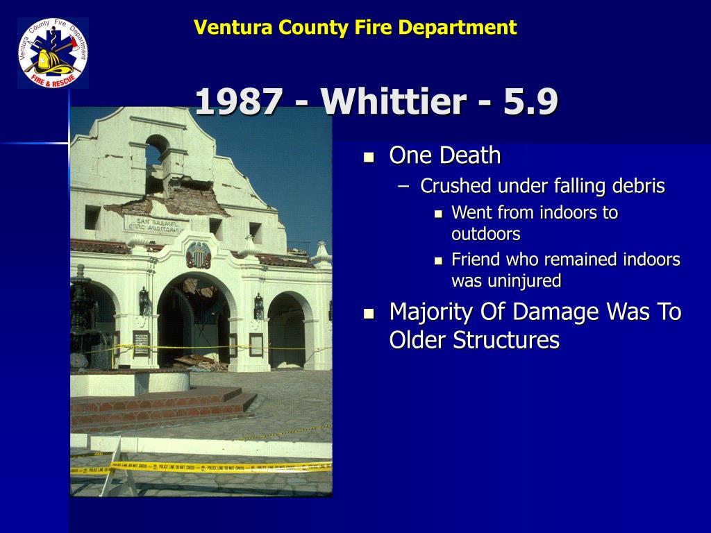 1987 - Whittier - 5.9