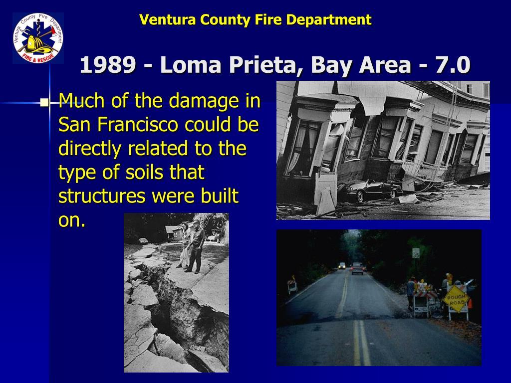 1989 - Loma Prieta, Bay Area - 7.0