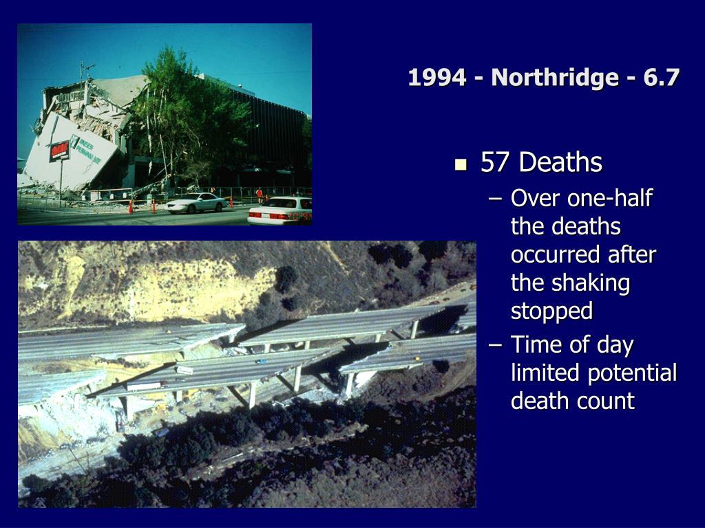 1994 - Northridge - 6.7