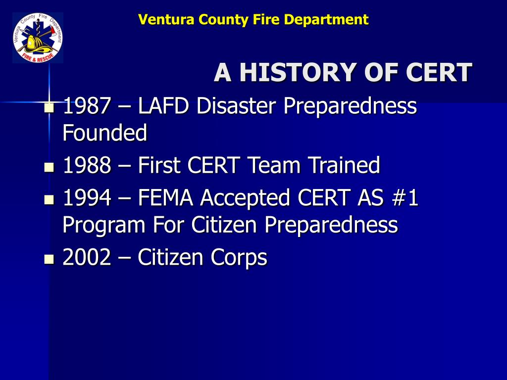 A HISTORY OF CERT