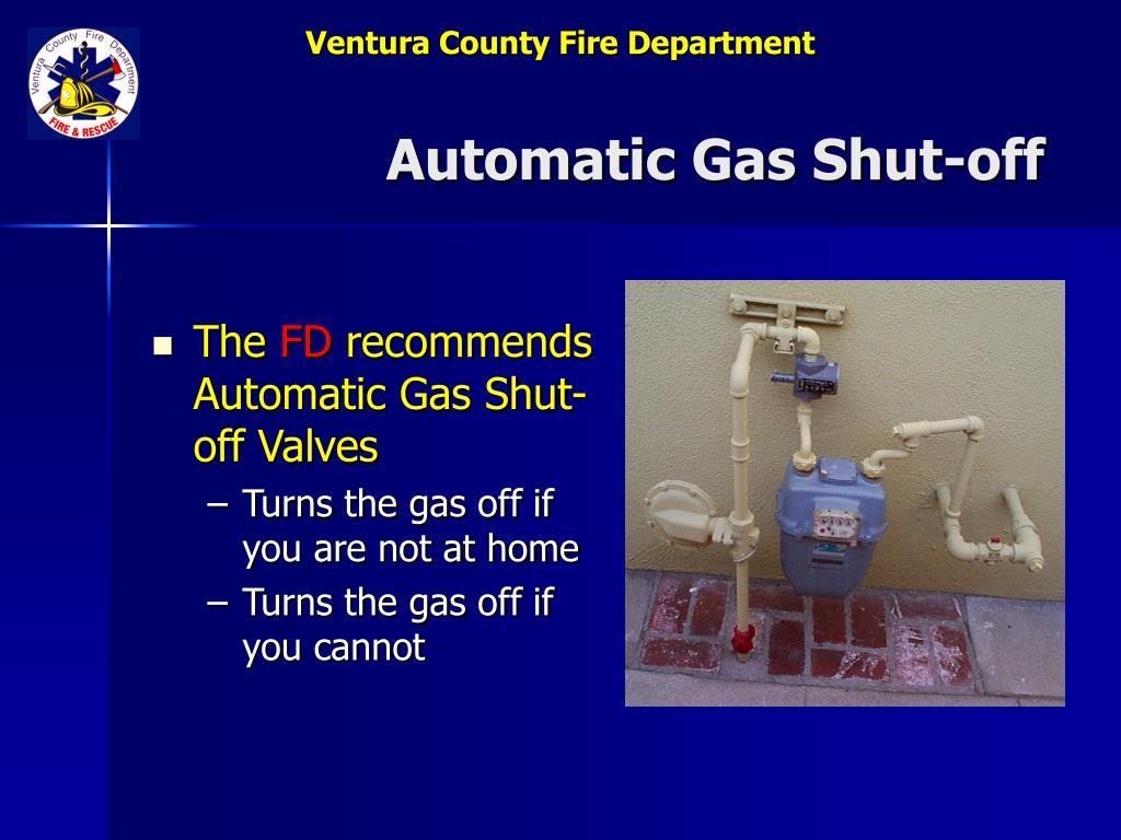 Automatic Gas Shut-off