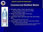 commercial bottled water