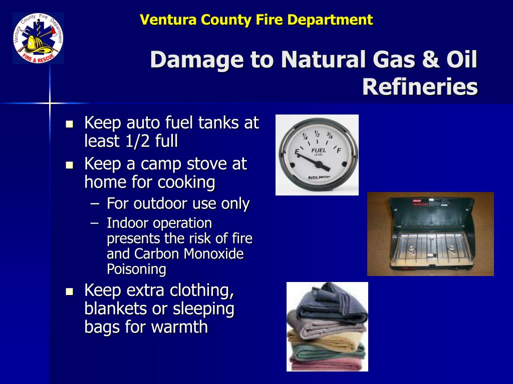Damage to Natural Gas & Oil Refineries