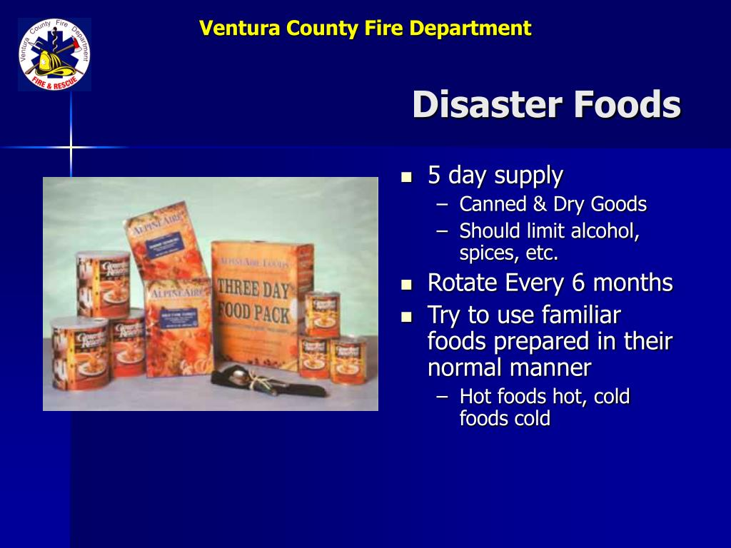 Disaster Foods