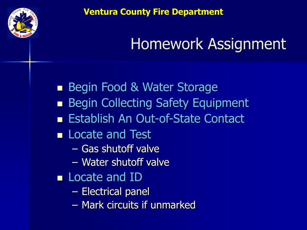 Begin Food & Water Storage