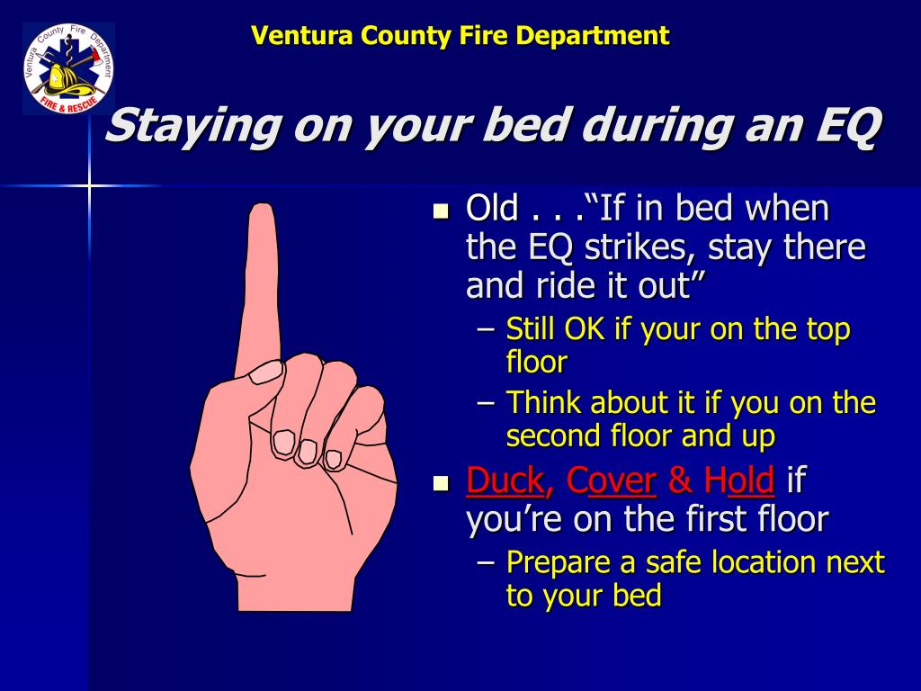 Staying on your bed during an EQ