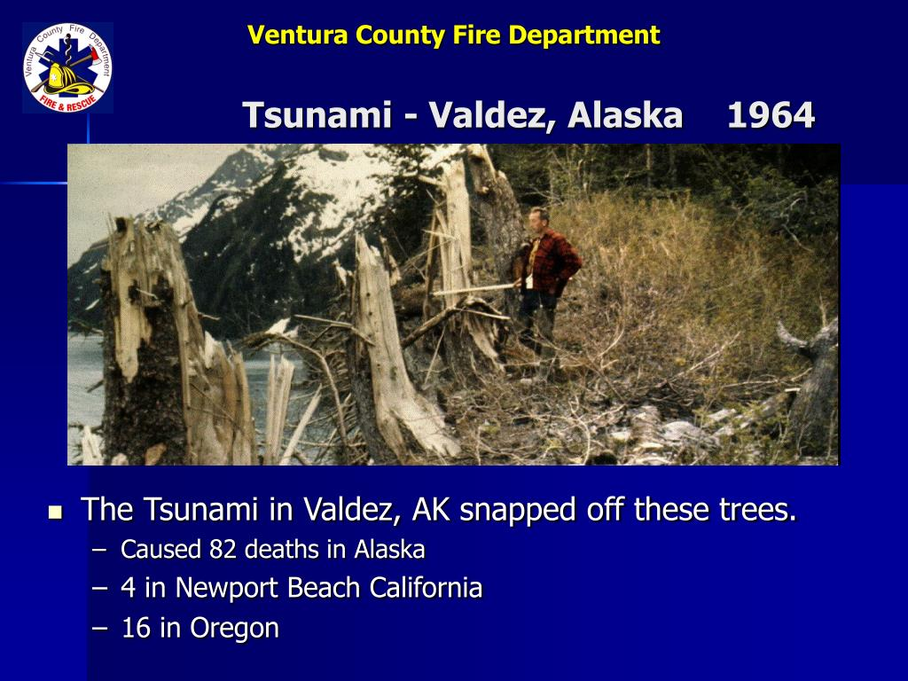 Tsunami - Valdez, Alaska    1964