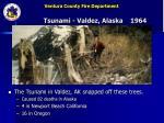tsunami valdez alaska 1964