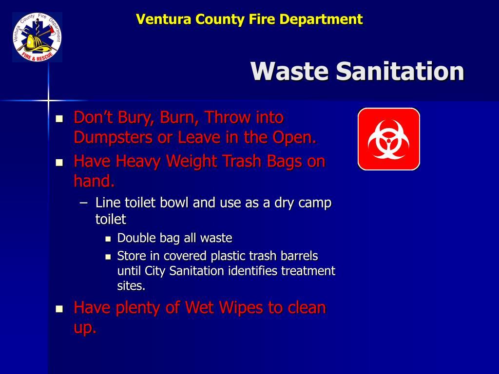 Waste Sanitation