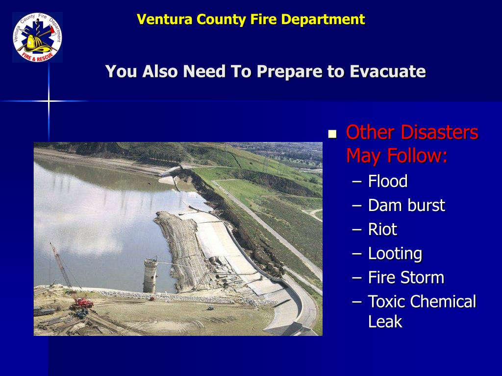 You Also Need To Prepare to Evacuate