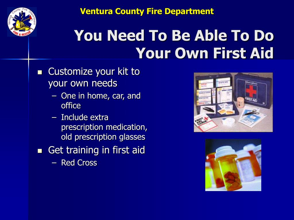 You Need To Be Able To Do Your Own First Aid